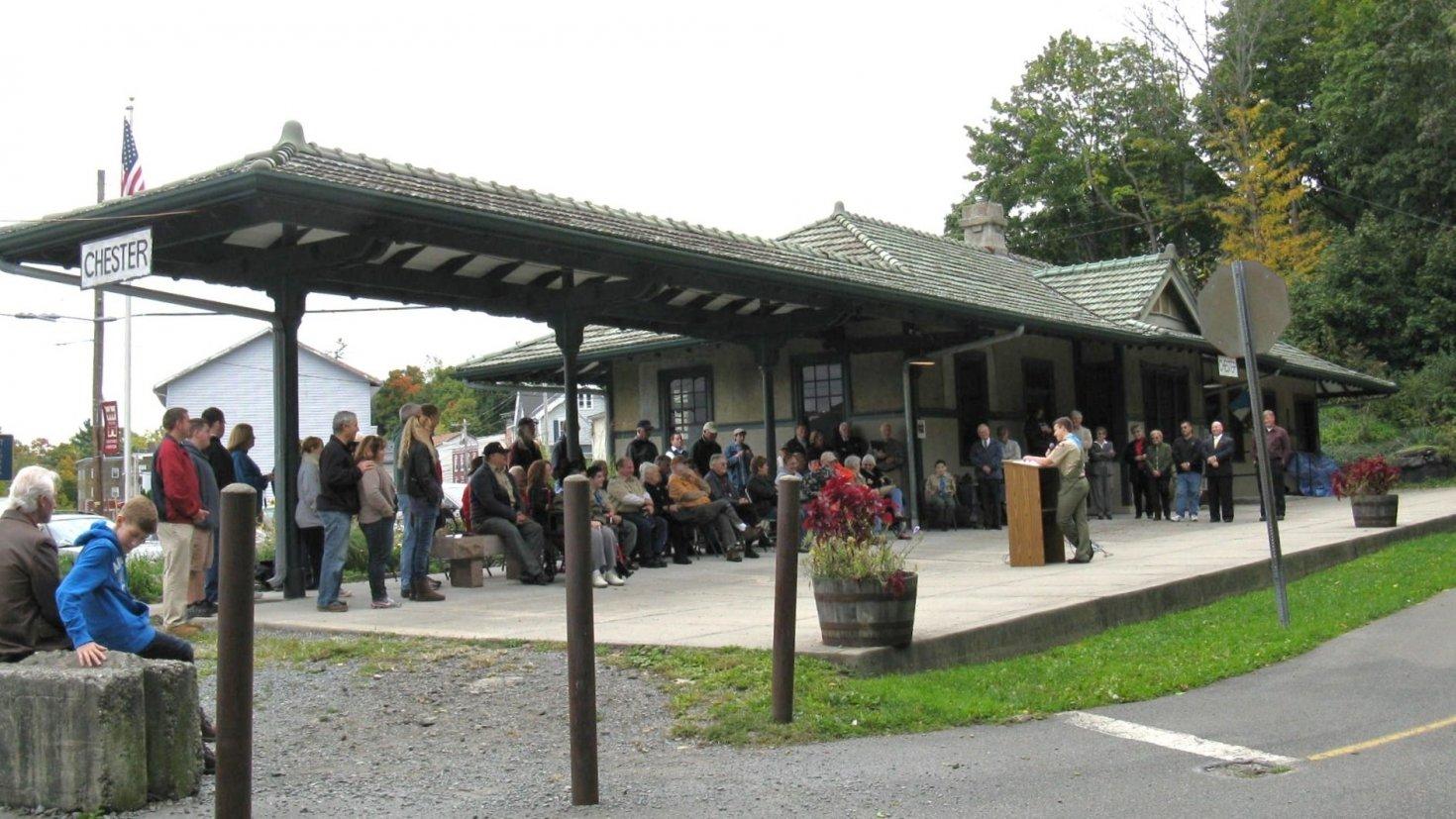 Chester Historical Society's 1915 Erie Depot